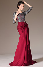 eDressit 2014 New Lace Top & Sleeves Sheath Formal Dress (26140302)