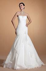 Carlyna 2014 Neu Elegant Trägerlos Süß Herz Ausschnitt Meerjungfrau Hochzeitskleid (C37143407)