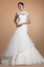 Carlyna 2014 Neu Süß Herz Ausschnitt Spitze Meerjungfrau Hochzeitskleid (C37145007)