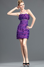 eDressit New Fashionable Strapless Purple Party Dress (35110906)