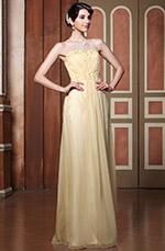 Simple Strapless A-line Lace Applique Evening Dress (C36143514)