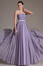Carlyna 2014 New Simple Strapless Evening Dress Bridesmaid Dress (C07140306)