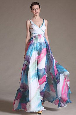 eDressit Printed Graceful V-cut Neckline Evening Dress (00120812)
