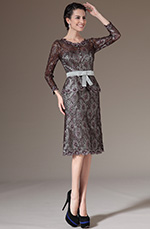 eDressit 2014 New Overlace Round Neckline Bowknot Mother of the Bride Dress (26144120)