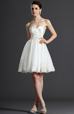 eDressit Hot Style Sweetheart Knee Length Wedding Dress (01120107)