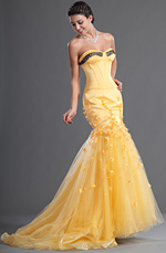 eDressit Fantastic Sweetheart and strapless Yellow Evening Dress (02122203)
