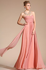 Carlyna 2014 New Strapless Pleated Evening Dress/Bridesmaid Dress (C00113946)