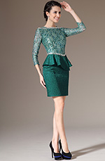 eDressit 2014 New Green Lace Top & Sleeves Formal Mother of the Bride Dress (26143504)