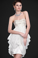 eDressit New Pure Strapless Party Dress with detachable train (04115307)
