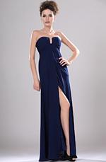 eDressit Neu traegerlos U-Ausschinitt Abendkleid mit Spalt (00113805)
