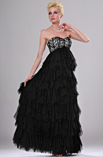 eDressit New Black Lace Sweetheart Evening Gown (00113700)