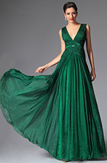 eDressit 2014 New Dark Green Deep V-cut Long Evening Prom Gown (02148704)
