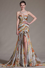 eDressit 2014 New Printed High Split Strapless Evening Gown (00134668)