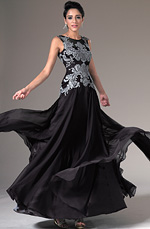 eDressit 2014 New Black Sheer Top Embroidered Lace Evening Gown (02144300)