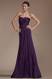 New Simple Purple Sweetheart Evening Dress Formal Gown (C00141406)