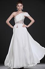 eDressit  New Amazing White One Shoulder Evening Dress (00117107)