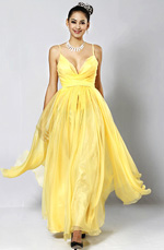 eDressit Yellow Evening Dress (W00081703)