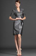 eDressit Elegant Grau Spitze Kleid für Braut´s Mutter (26121208)