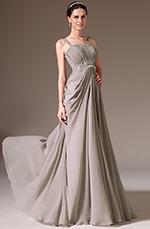 eDressit 2014 Nouveauté Bretelles Fines Perlé A-Line Robe de Bal Grise(00145608)