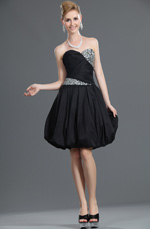 eDressit New Strapless Beaded Black Party Dress Bubble Dress (35110800)