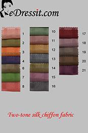 eDressit Zwei-Farbe Seide Chiffon Farbemuster (65100101A)
