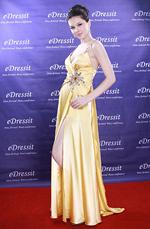 eDressit Yelllow Elegant v-cut split Evening Dress (00090203)
