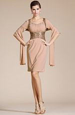 Carlyna 2014 New Knee Length Mother of the Bride Dress (C35140646)