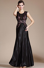 Carlyna 2014 New Black Lace A-line Evening Dress/Mother of the Bride Dress (C36141400)