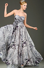 eDressit Strapless Floral Evening Dress (00107568)