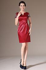 eDressit 2014 Nouveauté Rouge Perles V-décolleté Courte Robe de Cocktail (03140802)
