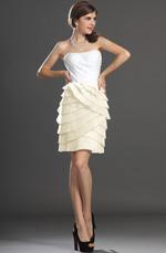 eDressit Nouveautés Sans Bretelle Bustier Blanc Robe de Cocktail (04132207)