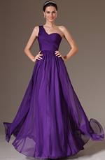 eDressit 2014 Nouveauté Violet Simple Une Bretelle Dentelle Robe de Gala(00143706)