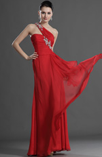 eDressit Stylish Red One Shoulder Evening Dress (00127202)