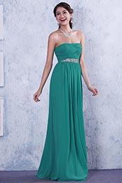 Robe de soirée/demoiselle d'honneur bustier drapée ligne A (C36145804)