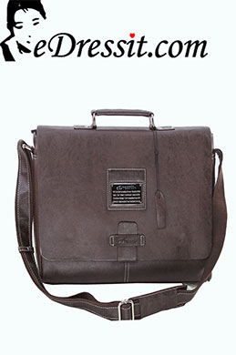 eDressit Leather Men's Messenger Shoulder Bag Briefcase (08080220)