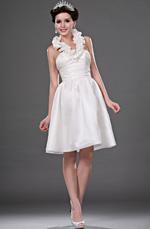 eDressit Hot Style White Halter Knee Length Wedding Dress (01111307)