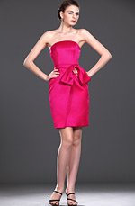 eDressit New Strapless Pink Bridesmaid Dress (07110112)