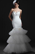 eDressit  Charming White Strapless Wedding Gown (01115207)