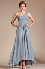 Carlyna 2014 New Elegant Grey One Shoulder Evening Dress (C36142108)