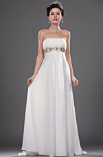eDressit Neue Elegant traegerlos mit Perlen Brautkleid (01110807)