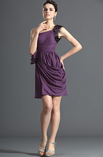 eDressit Gorgeous One Shoulder Purple Cocktail Dress Party Dress (04122406)