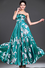 eDressit Floral Strapless Evening Dress (00777468)