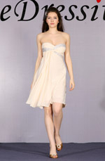 eDressit Beige Cute Strapless Cocktail Dress (04091814)