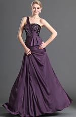 eDressit Glänzend Lila Ein Schulter Abendkleid (00123006)