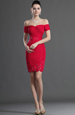eDressit Off Epaule  Avec Dentelle Rouge Robe de Cocktail (04124202)