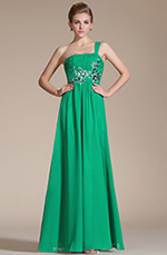 Carlyna 2014 New Adorable Green Embroidery One Shoulder Evening Dress (C3614170