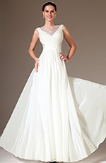 eDressit 2014 Neu Perlen Tülle Oben A-Line Hochzeit Abendkleid  (01140907)