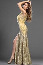 eDressit 2013 S/S Fashion Show Dorée Brillante Robe de Soirée (F00130124)