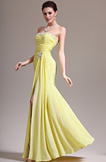 eDressit 2013 New Stunning Yellow High Split Strapless Evening Dress (00139203)