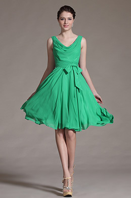 Green Chic Bowknot Cocktail Dress Party Dress (C04134204)